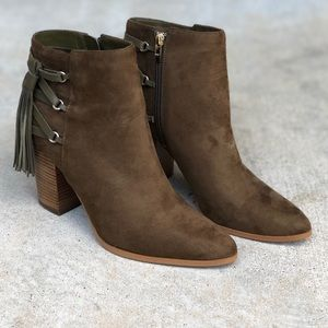 Marc Fisher | Kava Tassel Leather Ankle Booties